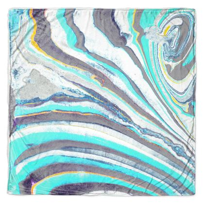 Turquoise marble stripes