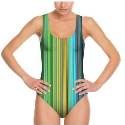 Rainbow Stripes Swimsuit