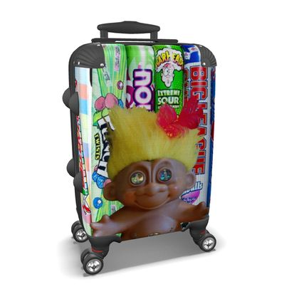 Yellow Hair and Sweeties Suitcase