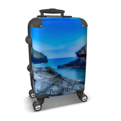 Small/Carry-on Designer Wheeled Suitcase - Boscastle, Cornwall