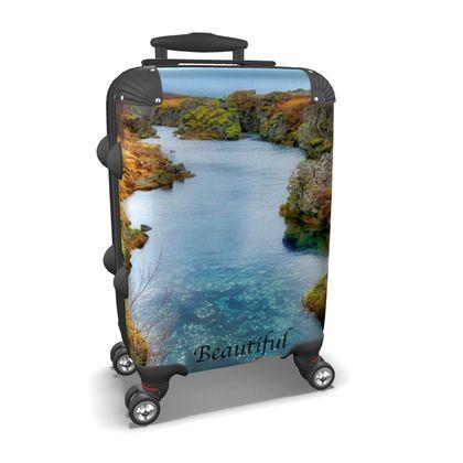 Small/Carry-on Designer Wheeled Suitcase - Iceland - 2