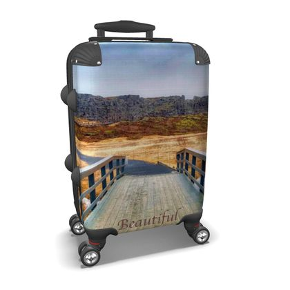 Small/Carry-on Designer Wheeled Suitcase - Iceland - 1