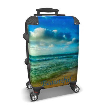 Small/Carry-on Designer Wheeled Suitcase - Cape Verde