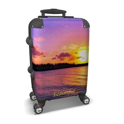 Small/Carry-on Designer Wheeled Suitcase - Jamaica