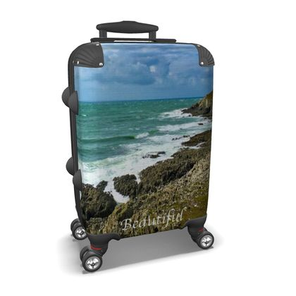 Small/Carry-on Designer Wheeled Suitcase - Morte Point, North Devon