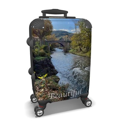 Small/Carry-on Designer Wheeled Suitcase - Alet-Les-Bains, France