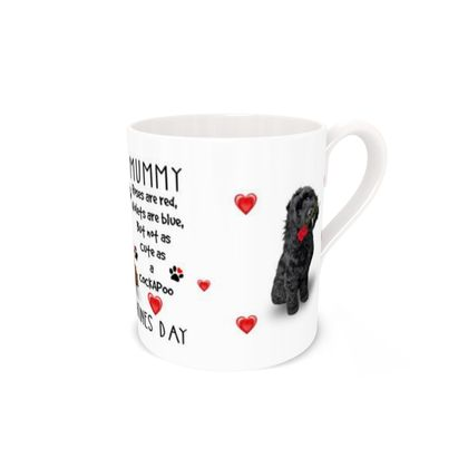 Dear Mummy Valentine's Day Cockapoo Bone China Mug