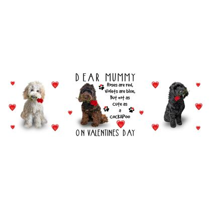 Dear Mummy Valentine's Day Cockapoo Bone China Mug