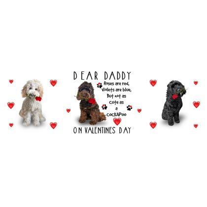 Dear Daddy Cockapoo Bone China Mug