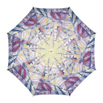 Canary Wharf - Eastender, Luxury Umbrella by Alison Gargett Artist and Designer