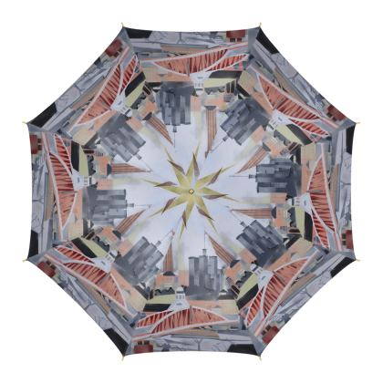 Toon Design Luxury Umbrella by Alison Gargett Artist and Designer