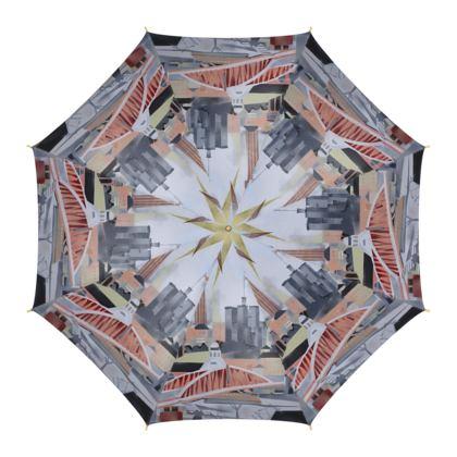 Toon Design Luxury Umbrella by Alison Gargett Artist and Designer