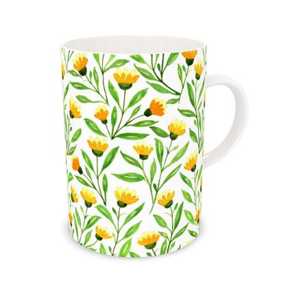 Yellow Priairie Flower Mug