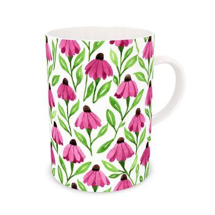 Pink Cone Flower Mug