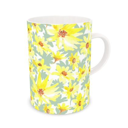 Yellow flower mug
