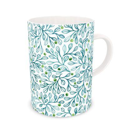 Watercolor leafy Mug