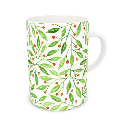 Winter Berry watercolor Mug