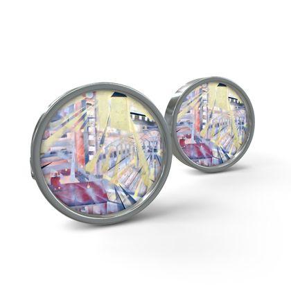 Canary Wharf/Eastender Cufflinks by Alison Gargett Artist and Designer