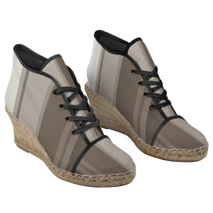 Shades of Grey Ladies Wedge Espadrilles
