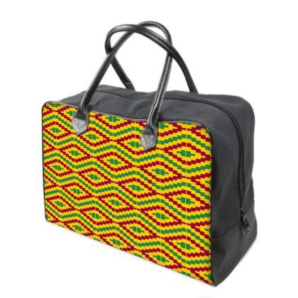 African Kente Pattern Holdall