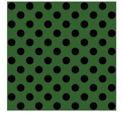 Polka Dots - Black and Basil Green - Slip Dress