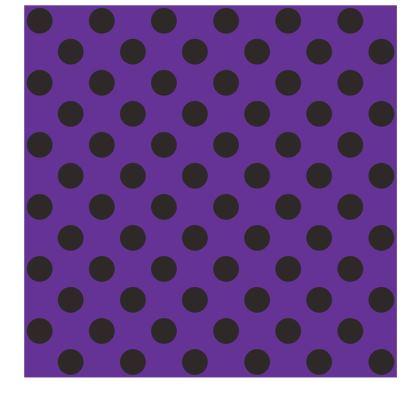 Polka Dots - Black and Imperial Purple - Slip Dress