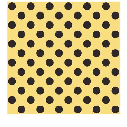 Polka Dots - Black and Mellow Yellow - Slip Dress