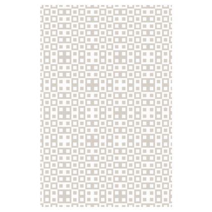 Retro Blocks - White and Abalone Grey - Slip Dress