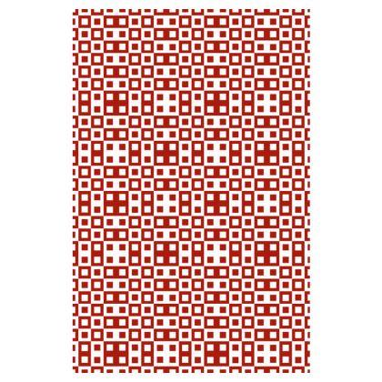 Retro Blocks - White and Apple Red - Slip Dress