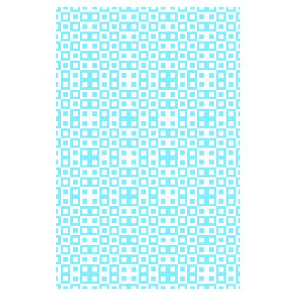 Retro Blocks - White and Arctic Blue - Slip Dress
