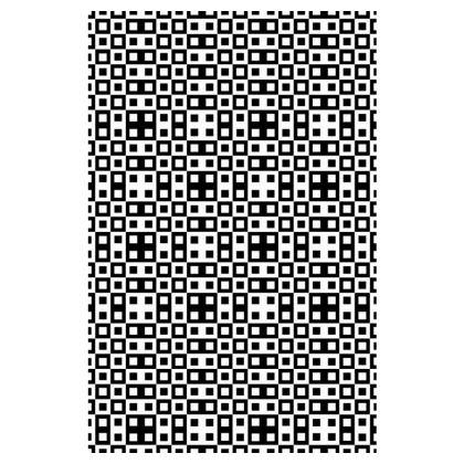 Retro Blocks - White and Black - Slip Dress