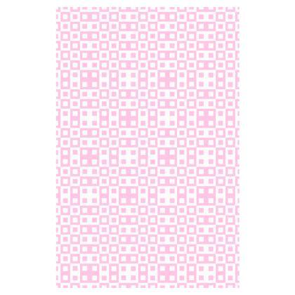 Retro Blocks - White and Blush Pink - Slip Dress