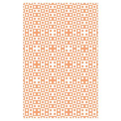 Retro Blocks - White and Cantaloupe Orange - Slip Dress