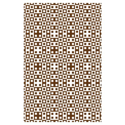 Retro Blocks - White and Caramel Brown - Slip Dress