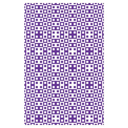 Retro Blocks - White and Imperial Purple - Slip Dress