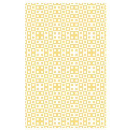 Retro Blocks - White and Mellow Yellow - Slip Dress