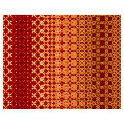 Vibrant Red and Yellow decorative Kimono/Robe