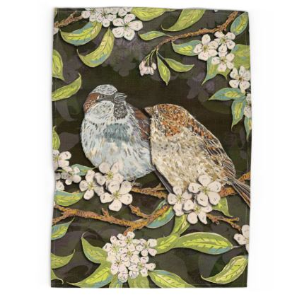 Sparrows Tea Towel