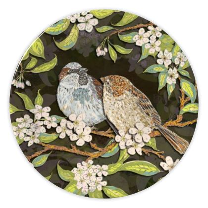 Sparrows China Plate