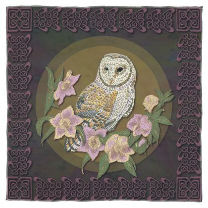 Celtic Owl Scarf