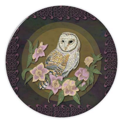Celtic Owl China Plate