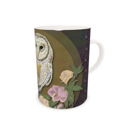Celtic Owl China Mug