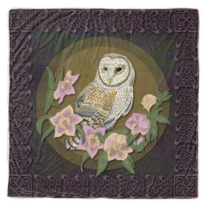 Celtic Owl Throw