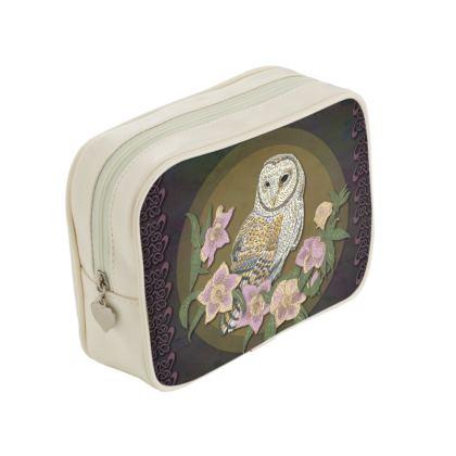 Celtic Owl Make Up Bag