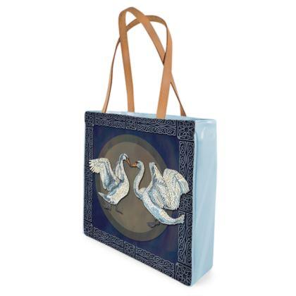 Celtic Swans Shopper Bag