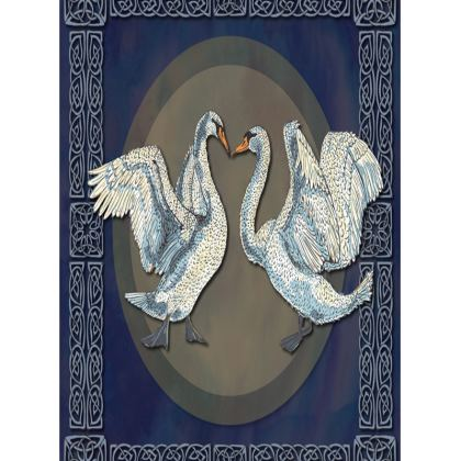 Celtic Swans Tray