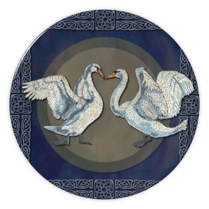 Celtic Swans China Plate