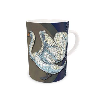 Celtic Swans Bone China Mug