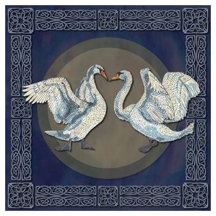Celtic Swans Cushion