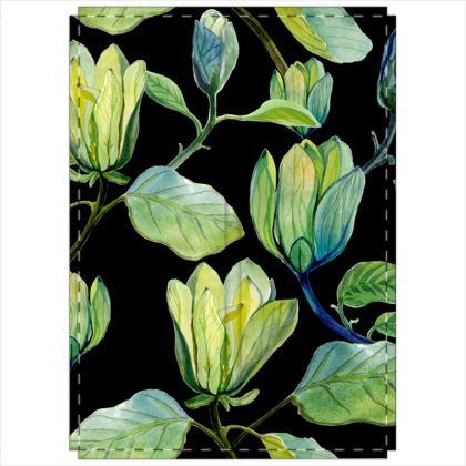 Night Magnolias Folding Screen